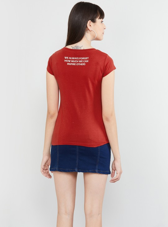 MAX Typography Print T-shirt