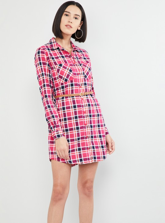 MAX Checked Full Sleeves Dress
