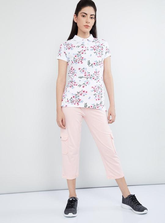 MAX Floral Print Polo T-shirt