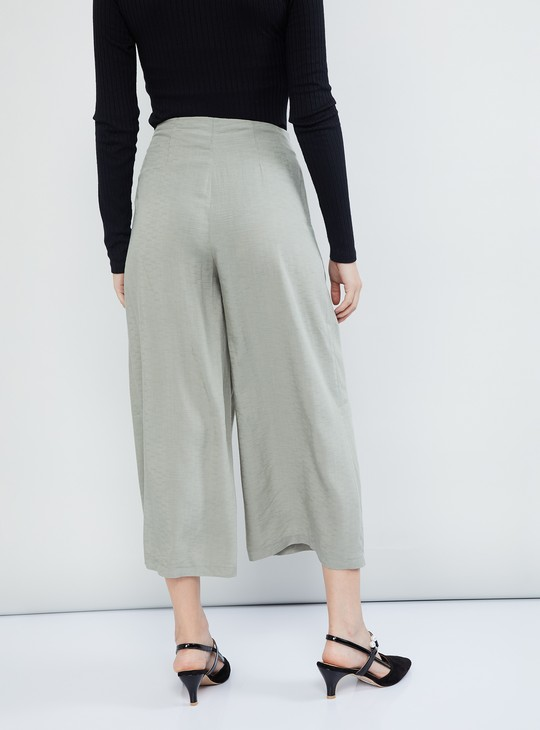 MAX Solid Button-Fly Culottes