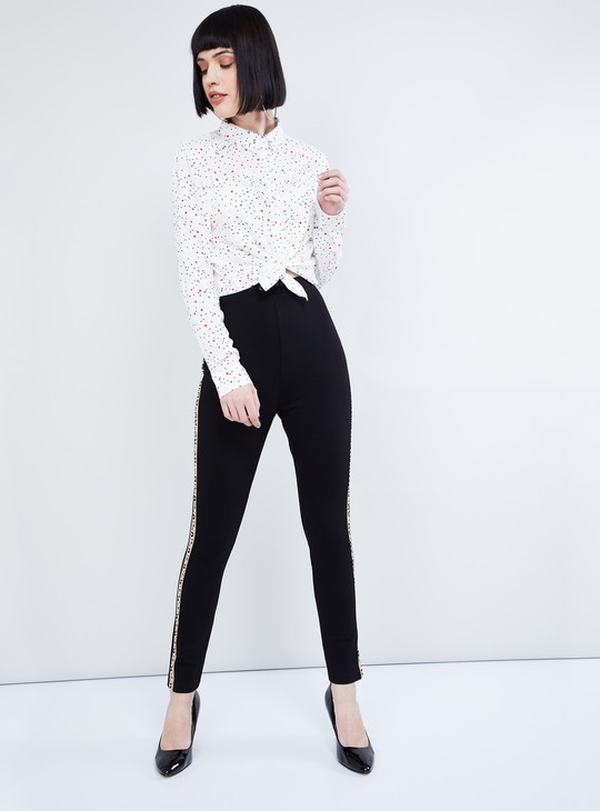 MAX Solid Pants with Printed Taping