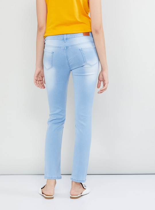 MAX Stonewashed Ankle-Length Jeans