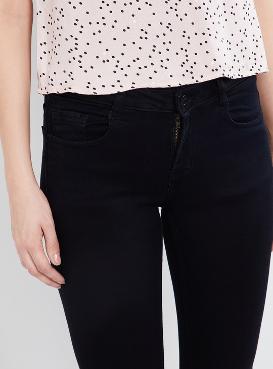 MAX Washed Slim Fit Cropped Jeans