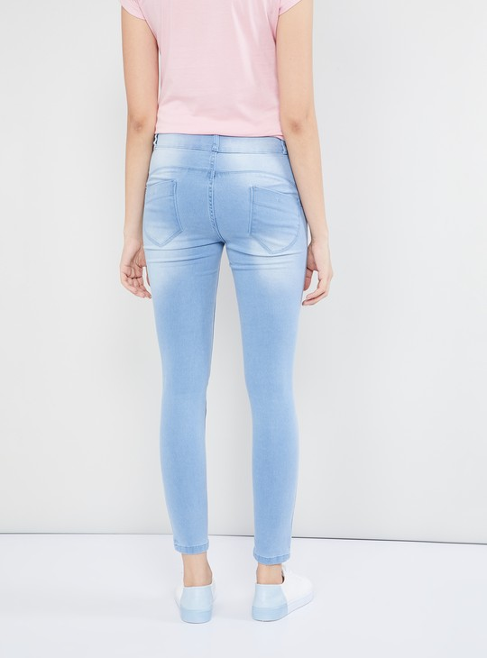 MAX Stonewashed Low Rise Skinny Fit Jeans