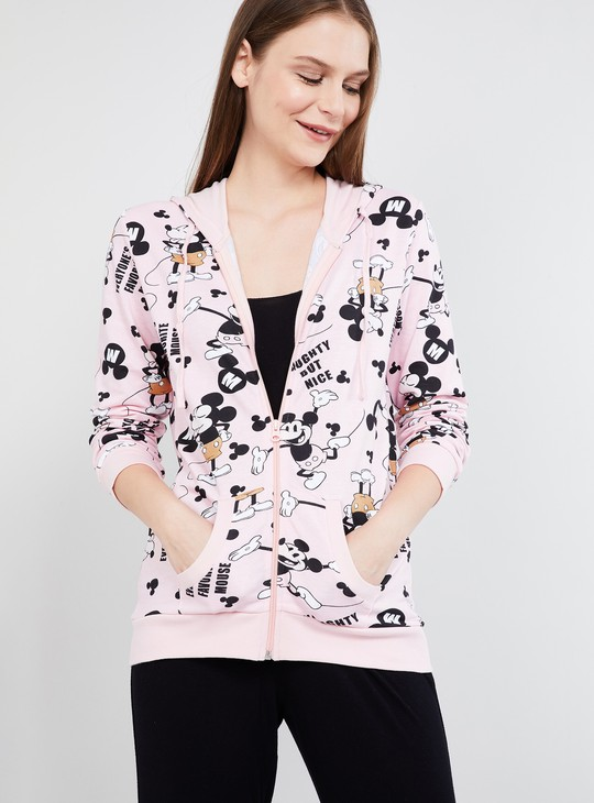 MAX Printed Open-Front Hooded Jacket