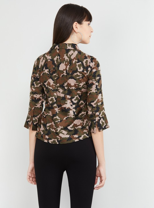 MAX Camouflage Printed Shirt