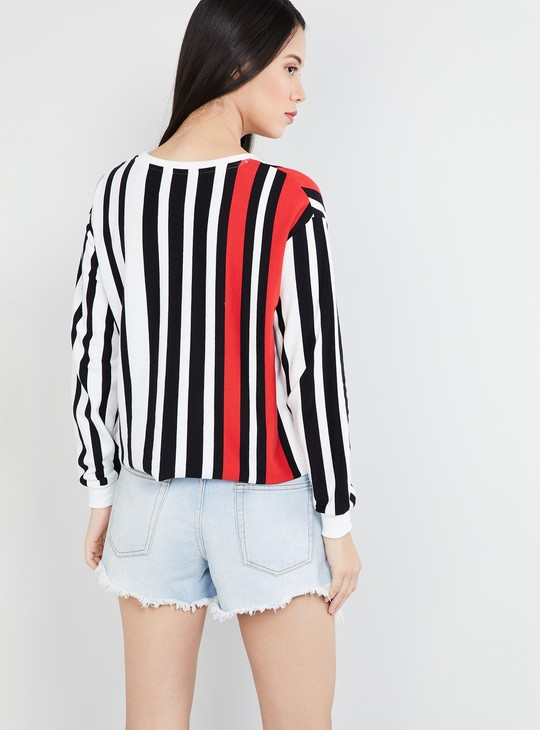 MAX Striped Drop-Shoulder Sweatshirt