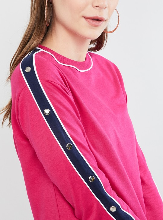 MAX Embellished Round Neck Sweatshirt
