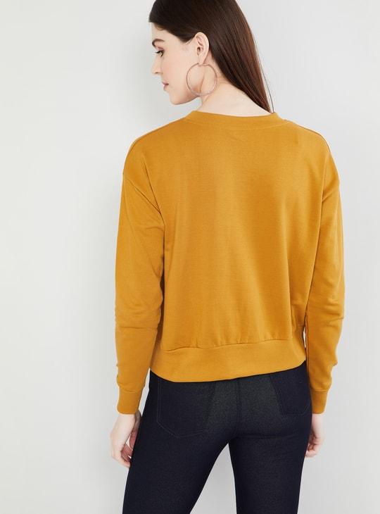 MAX Printed Pullover Sweatshirt
