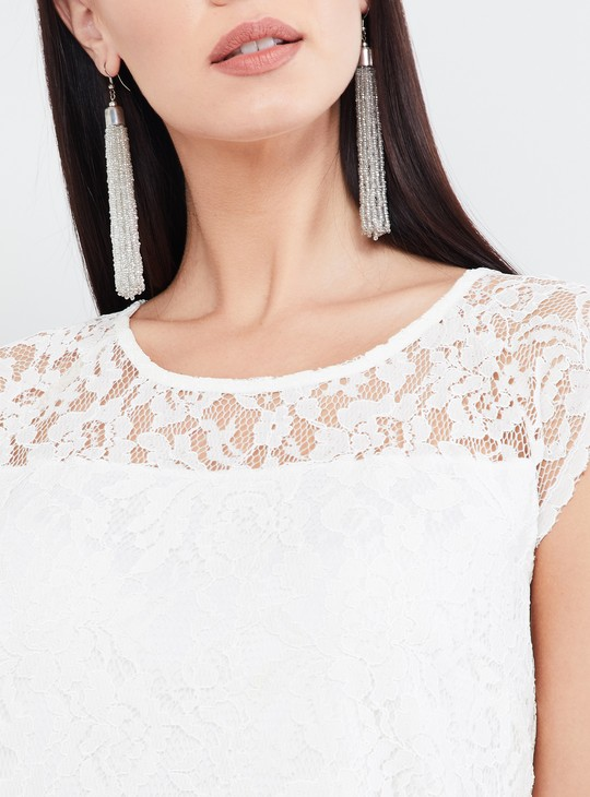 MAX Round Neck Lace Top