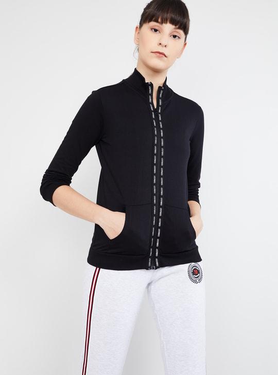 MAX Tape Detailed Zip-Up Sweatshirt