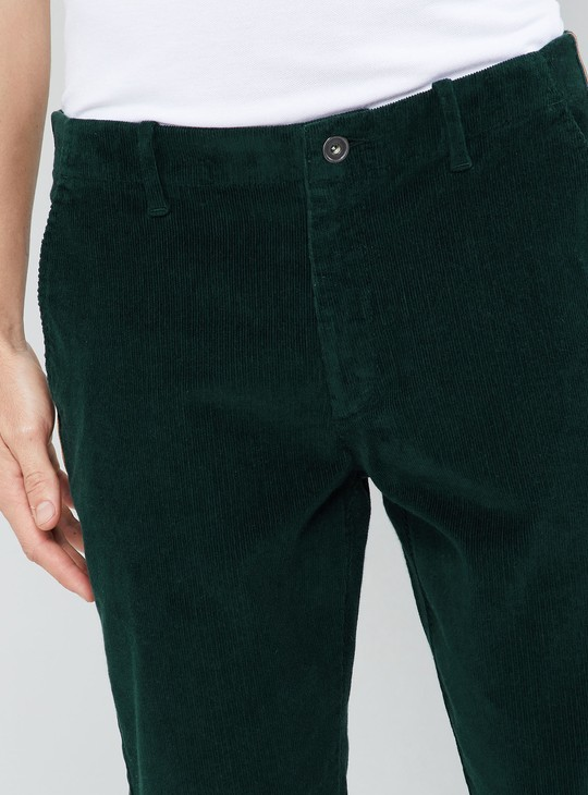 MAX Tape Detailed Corduroy Trousers