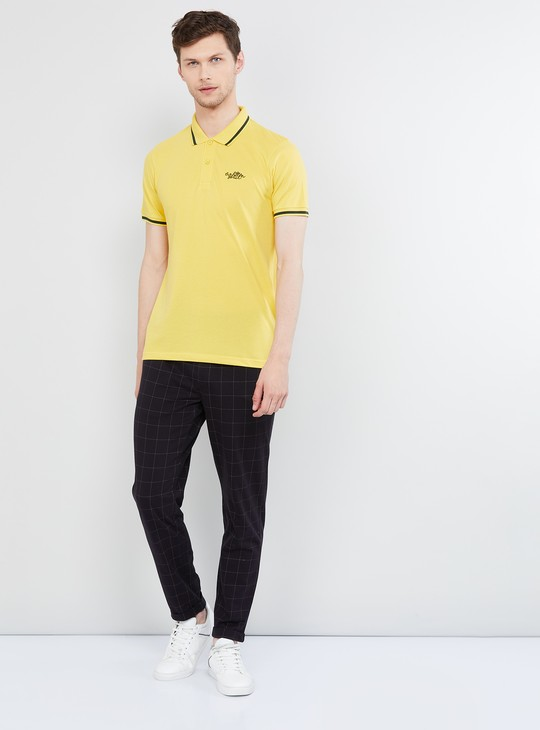 MAX Checked Regular Fit Elasticated Pants
