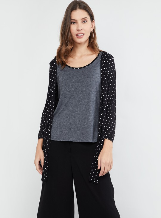 MAX Printed Layered Top