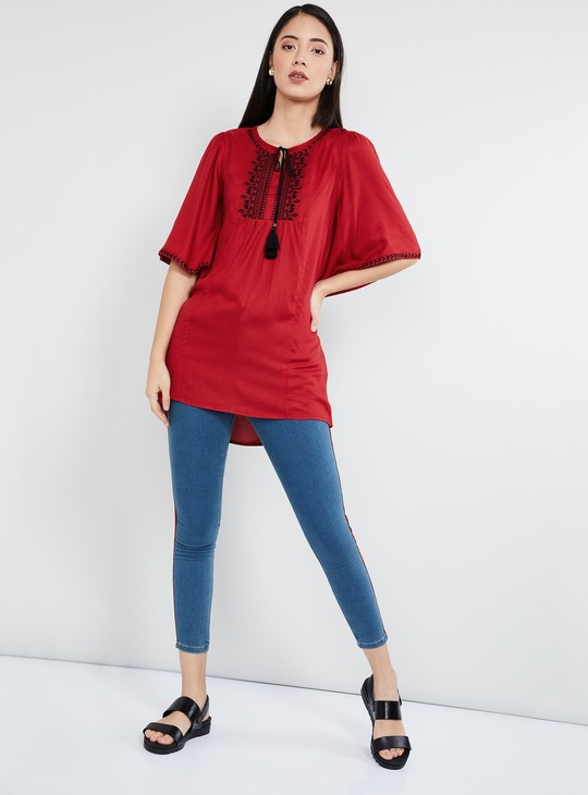 MAX Embroidered Flared Sleeves Tunic