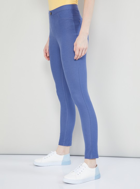 MAX Solid Cropped Jeggings