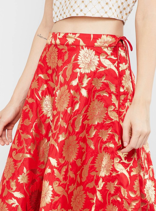 MAX Jacquard Patterned Maxi Ethnic Skirt