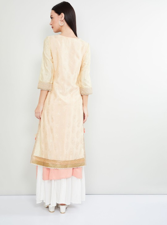MAX Printed Kurta with Attached Innerlay