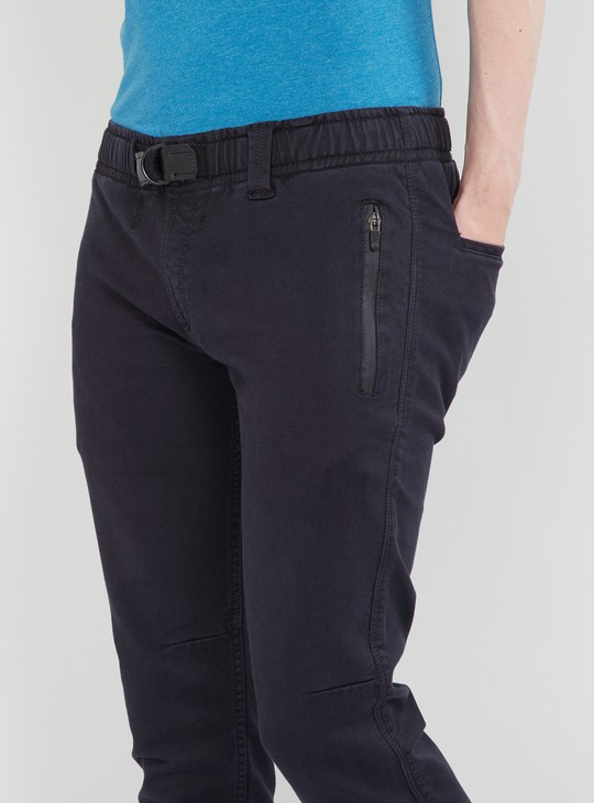 MAX Solid Jeans with Elasticated Waist