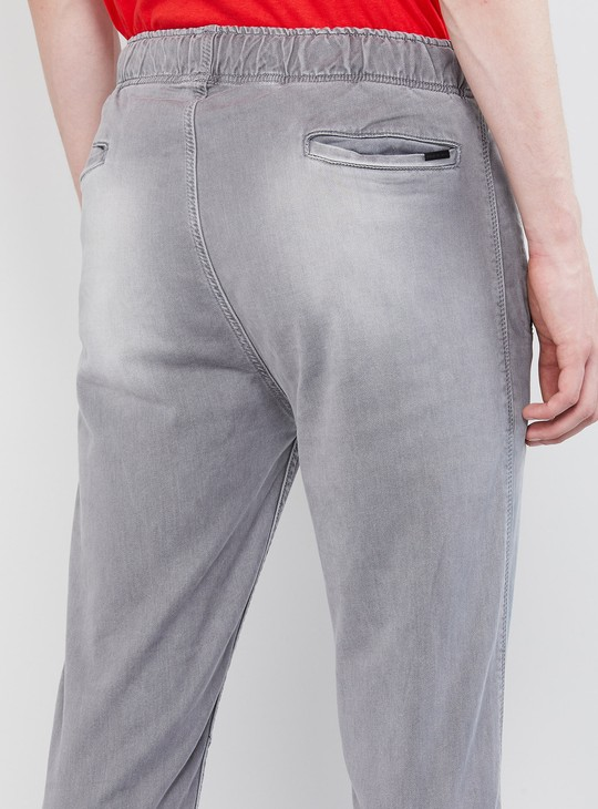 MAX Stonewashed Jeans with Elasticated Waist