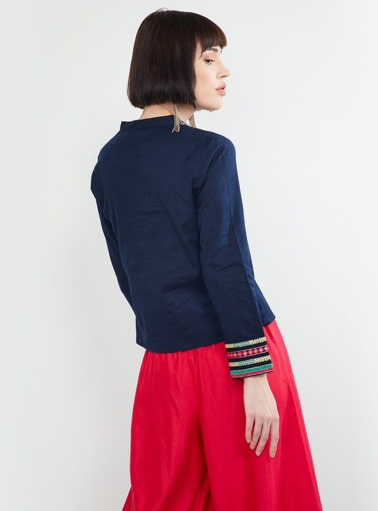MAX Solid Shirt-Style Top