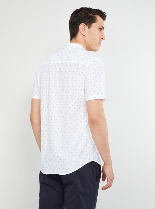 MAX Printed Short Sleeves Slim Fit Shirt