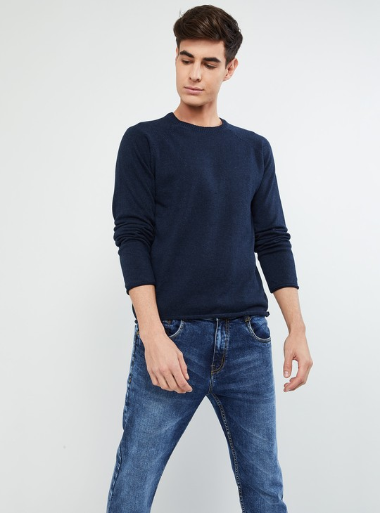 MAX Solid Full Sleeves Sweater