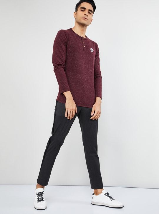MAX Textured Slim Fit Henley T-shirt