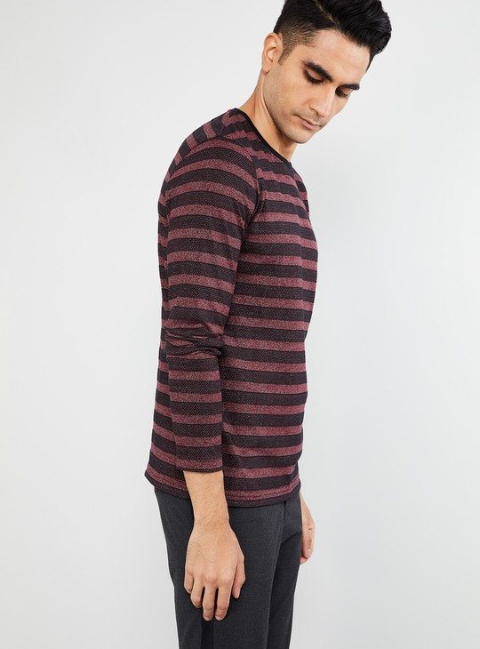 MAX Striped Crew Neck Regular Fit T-shirt