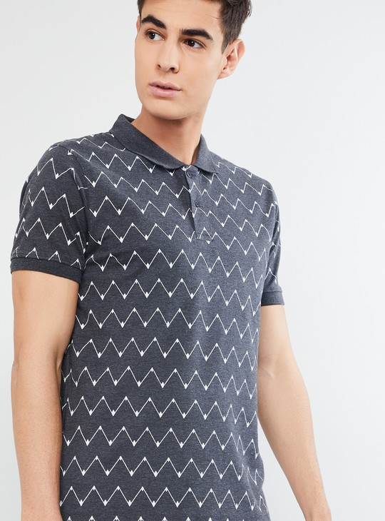 MAX Printed Short Sleeves Regular Fit Polo T-shirt