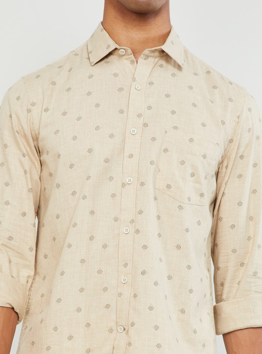 MAX Printed Full Sleeves Slim Fit Shirt
