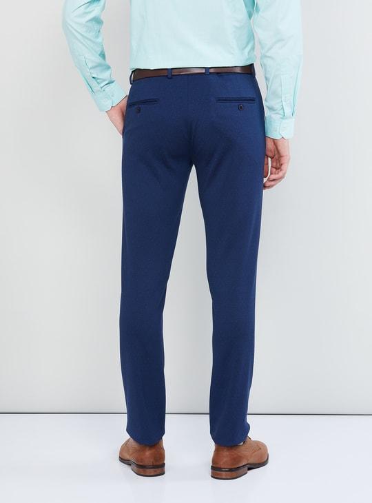 MAX Printed Slim Fit Formal Trousers
