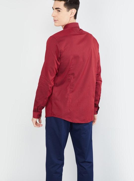 MAX Jacquard Pattern Slim Fit Formal Shirt