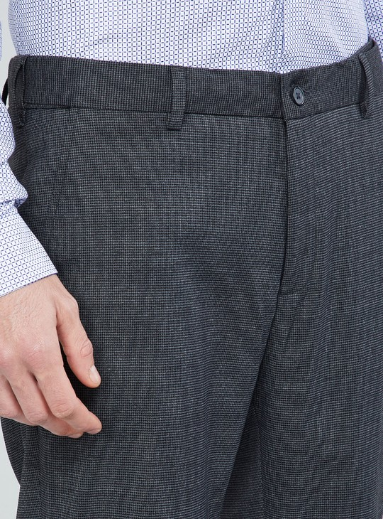 MAX Textured Slim Fit Trousers