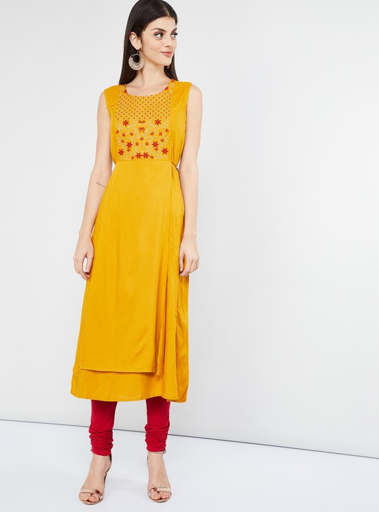 MAX Embroidered Layered Kurta