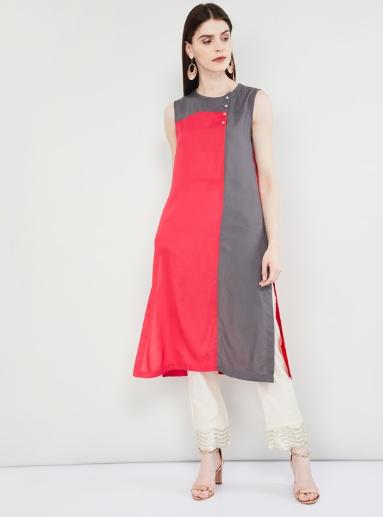 MAX Colourblock Sleeveless Kurta
