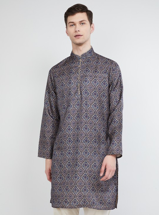 MAX Printed Band Collar Kurta