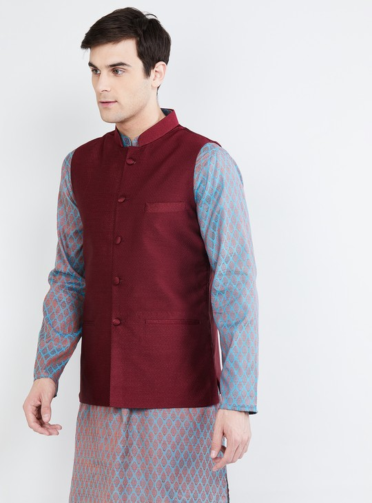 MAX Textured Nehru Jacket
