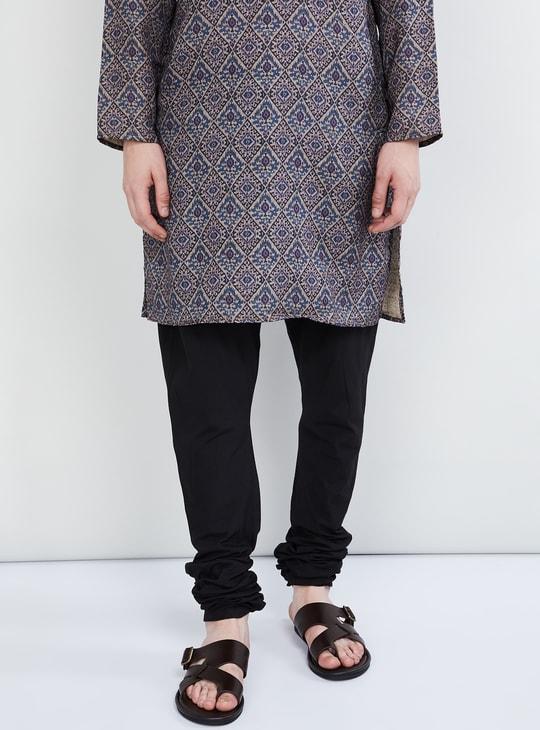 MAX Solid Drawstring Waist Churidar Pyjamas