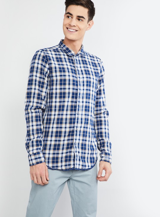 MAX Checked Slim Fit Reversible Shirt