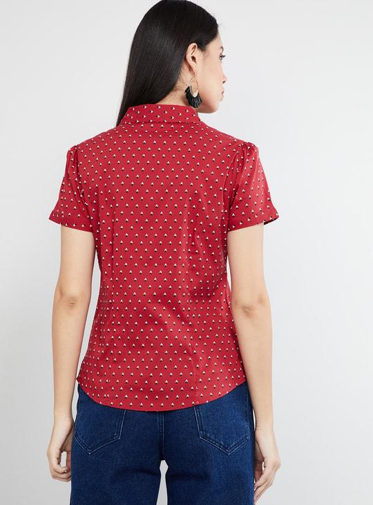 MAX Printed Cap Sleeves Shirt