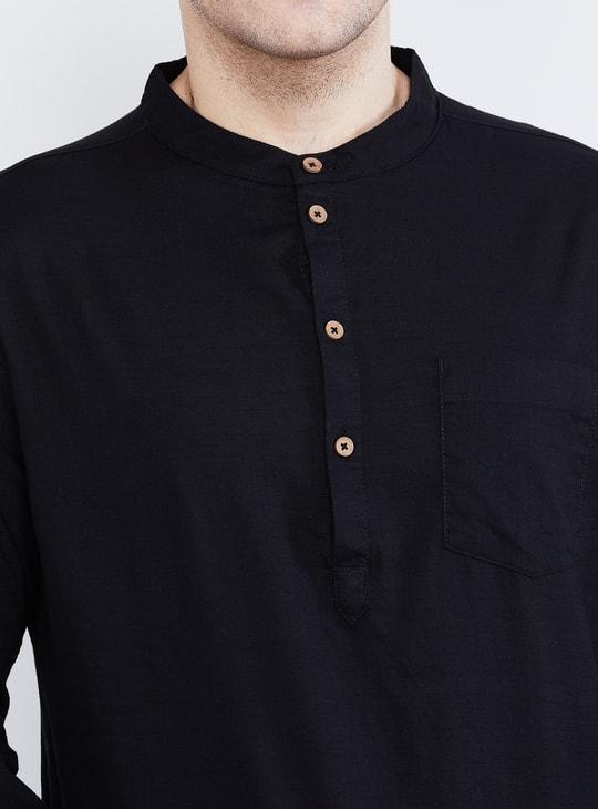 MAX Solid Band Collar Shirt Kurta