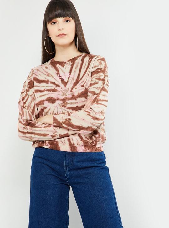 MAX Typographic Print Dyed Sweatshirt