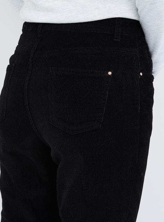 MAX Solid Woven Corduroy Pants