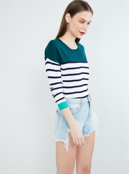 MAX Striped Colourblocked Sweater