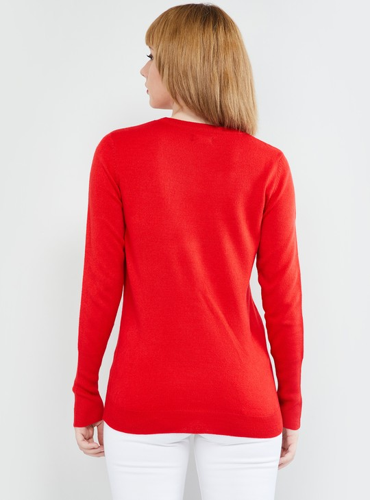 MAX Solid Round  Neck Sweater