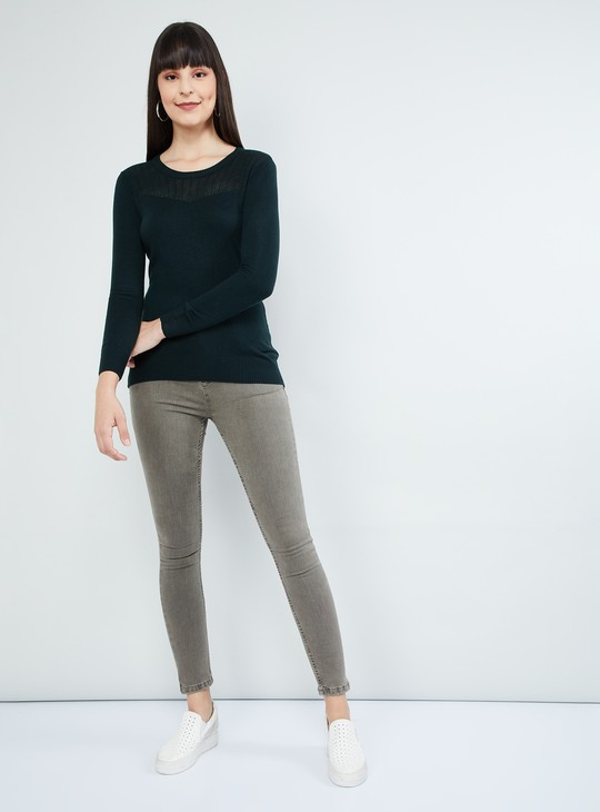MAX Semi-Sheer Knitted Sweater