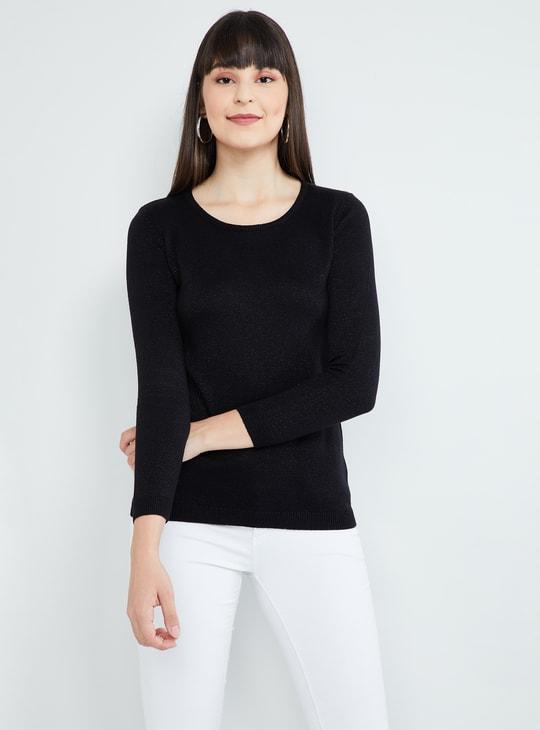 MAX Round Neck Lurex Sweater