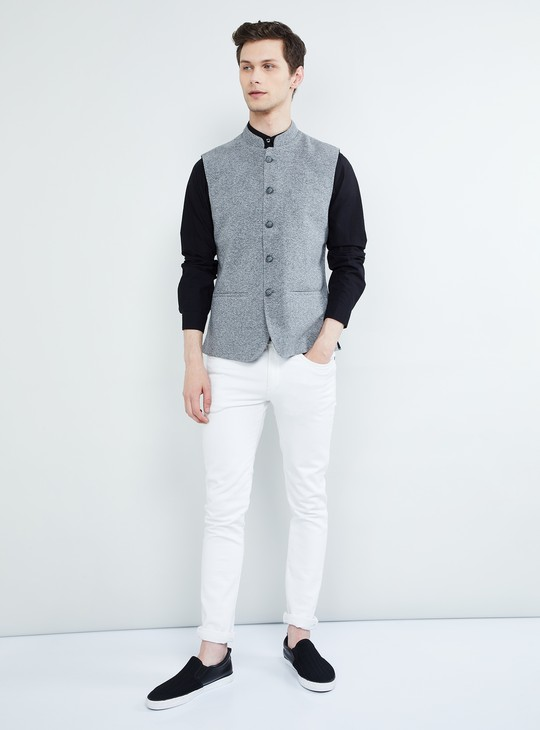 MAX Textured Sleeveless Jacket