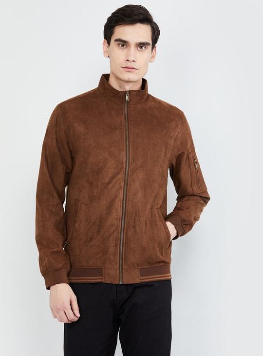 MAX Solid Suede Jacket